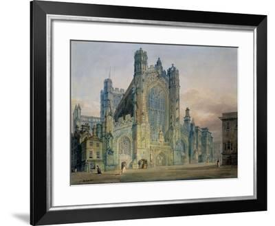 The West Front of Bath Abbey-J^ M^ W^ Turner-Framed Giclee Print