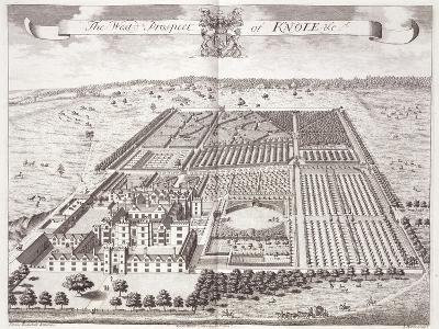 The West Prospect of Knole, Thirty Six Different Views of Noblemen and Gentlemen's Seats-Thomas Badeslade-Giclee Print