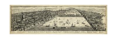 The West Prospect of London--Art Print