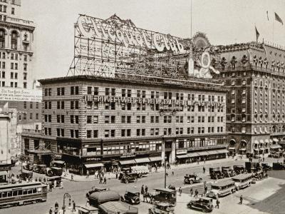 The West Side of 7th Ave., with the Intersections of 43rd and 44th Streets, New York City, 1925--Photographic Print