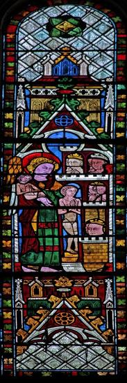 The West Window Depicting a Scene from the Last Judgement: the Elect Being Taken to Heaven?--Giclee Print