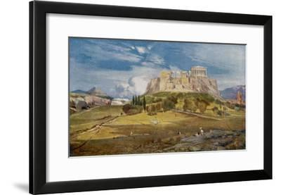 The Western End of the Acropolis Seen from Below the Pnyx--Framed Giclee Print