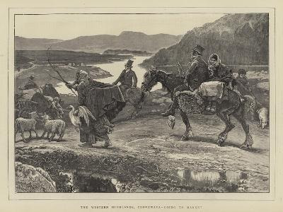 The Western Highlands, Connemara, Going to Market-William Small-Giclee Print
