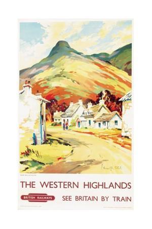 The Western Highlands, Poster Advertising British Railways, 1955