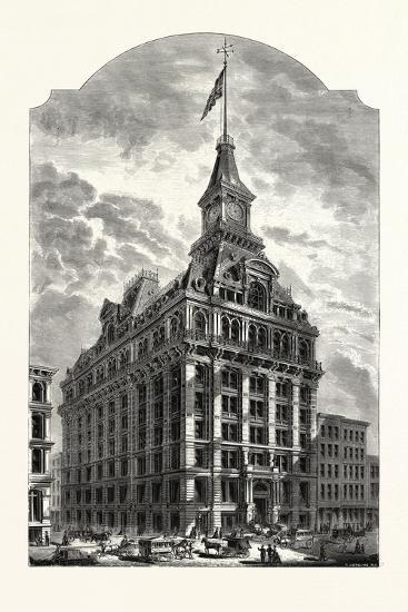 The Western Union Telegraph Building, New York, Was Completed in 1875. Usa-Marc Nattier-Giclee Print