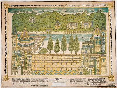 The Western Wall and its Surroundings, 1895-Shmuel Schulman-Giclee Print