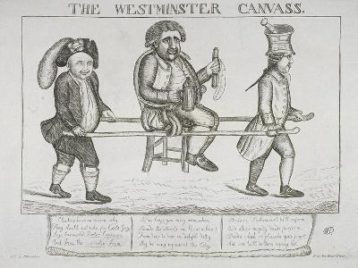 The Westminster Canvass, 1784-William Dent-Giclee Print