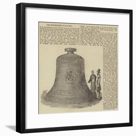 The Westminster Clock Bell--Framed Giclee Print