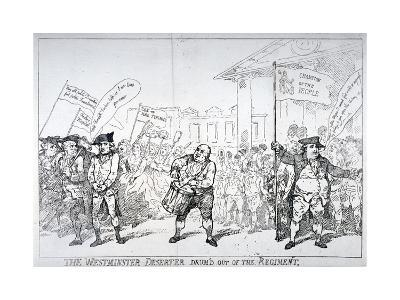 The Westminster Deserter Drum'D Out of the Regiment, 1784-Thomas Rowlandson-Giclee Print