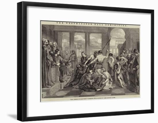 The Westminster Hall Exhibition, The Parable of Forgiveness-James Eckford Lauder-Framed Giclee Print
