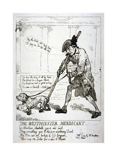 The Westminster Mendicant, 1784-Thomas Rowlandson-Giclee Print