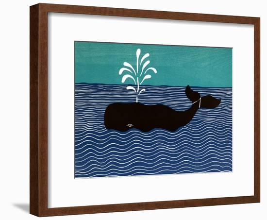 The Whale-Stephen Huneck-Framed Premium Giclee Print
