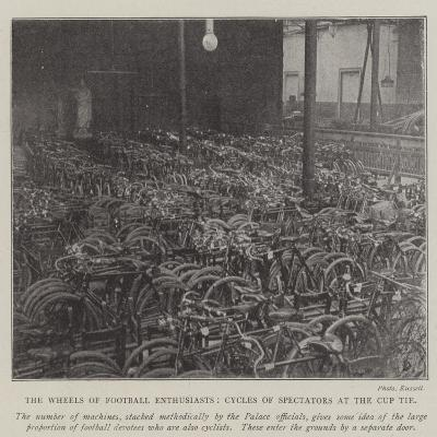 The Wheels of Football Enthusiasts, Cycles of Spectators at the Cup Tie--Giclee Print