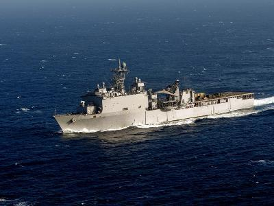 The Whidbey Island-class Dock Landing Ship USS Rushmore-Stocktrek Images-Photographic Print