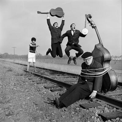 """The Whiskey Hill Singers, Singing One of Their Songs, """"Railroad Bill""""-Ralph Crane-Premium Photographic Print"""