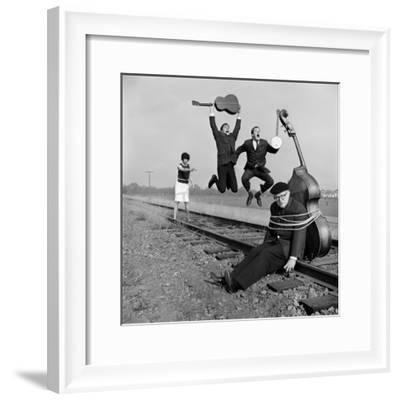 """The Whiskey Hill Singers, Singing One of Their Songs, """"Railroad Bill""""-Ralph Crane-Framed Premium Photographic Print"""