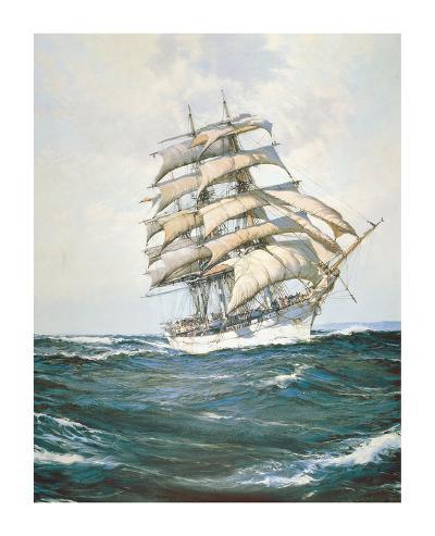 The White Clipper-Montague Dawson-Premium Giclee Print