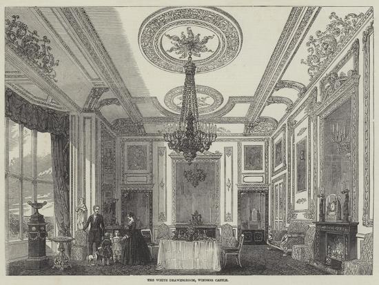 The White Drawingroom, Windsor Castle--Giclee Print
