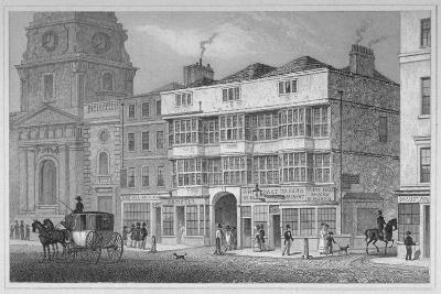 The White Hart Inn at No 119 White Hart Court, Bishopsgate, City of London, 1829-S Lacey-Giclee Print