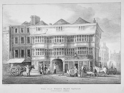 The White Hart Inn, Bishopsgate, City of London, 1825--Giclee Print
