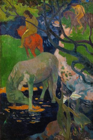 The White Horse, 1898-Paul Gauguin-Giclee Print