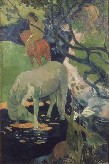 The White Horse, 1898-Paul Gauguin-Giclee Print