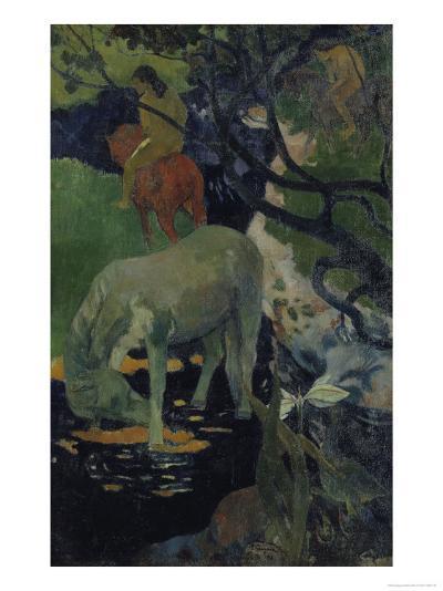 The White Horse, c.1893-Paul Gauguin-Giclee Print