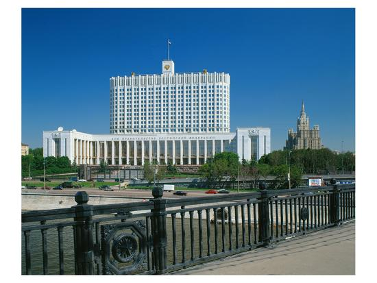 The White House in Moscow, Russia--Art Print