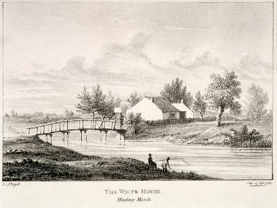 The White House on the Banks of the River Lea, Hackney Marsh, London, C1830-Charles Bigot-Giclee Print