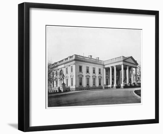 The White House, Washington Dc, Late 19th Century-John L Stoddard-Framed Giclee Print