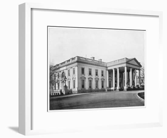 The White House, Washington Dc, Late 19th Century-John L Stoddard-Framed Giclee Print