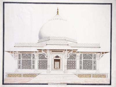 The White Marble Tomb of Seliem Chistie, C. 1815 (Pencil, Pen and Ink, W/C)--Giclee Print