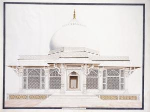 The White Marble Tomb of Seliem Chistie, C. 1815 (Pencil, Pen and Ink, W/C)