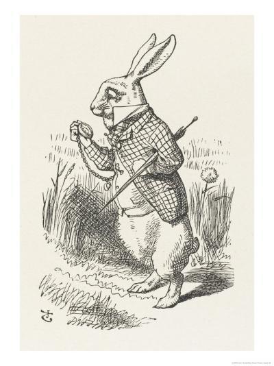 The White Rabbit Checks His Watch-John Tenniel-Giclee Print