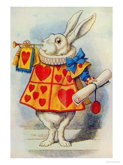 The White Rabbit, Illustration from Alice in Wonderland by Lewis Carroll-John Tenniel-Giclee Print