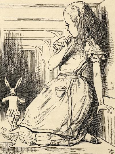 The White Rabbit Is Late, from 'Alice's Adventures in Wonderland' by Lewis Carroll, Published 1891-John Tenniel-Giclee Print