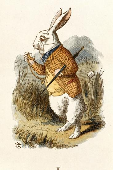 The White Rabbit-John Teniel-Giclee Print