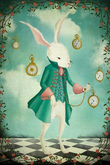 The White Rabbit-Maja Lindberg-Art Print