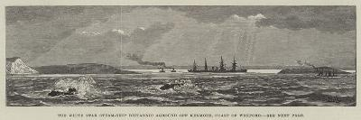 The White Star Steam-Ship Britannic Aground Off Kenmore, Coast of Wexford--Giclee Print