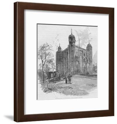 The White Tower: Tower of London--Framed Giclee Print