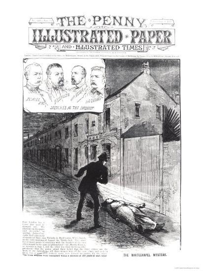 "The Whitechapel Mystery, from ""The Penny Illustrated Paper,"" 8th September 1888--Giclee Print"