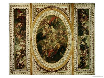 The Whitehall Ceiling: the Apotheosis of James I 1632-34-Peter Paul Rubens-Giclee Print