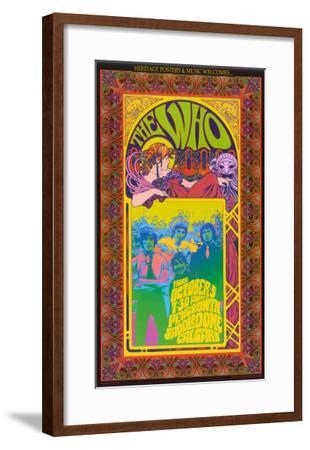 The Who in Concert-Bob Masse-Framed Art Print