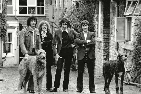 The Who, with Dogs-Associated Newspapers-Photo