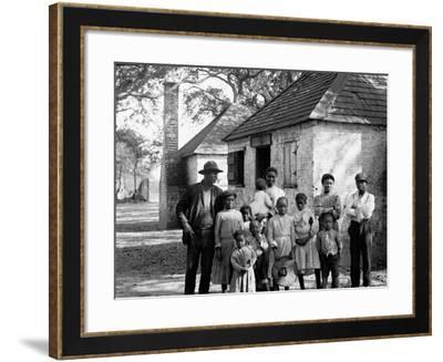 The Whole Black Family at the Hermitage, Savannah, Ga.--Framed Photo