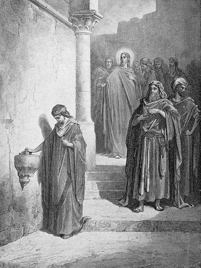 The Widow's Mite, Engraved by L. Dumont, C.1868-Gustave Dor?-Giclee Print