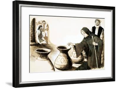 The Widow's Mite-Clive Uptton-Framed Giclee Print
