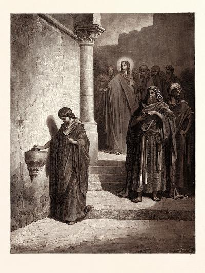 The Widow's Mite-Gustave Dore-Giclee Print