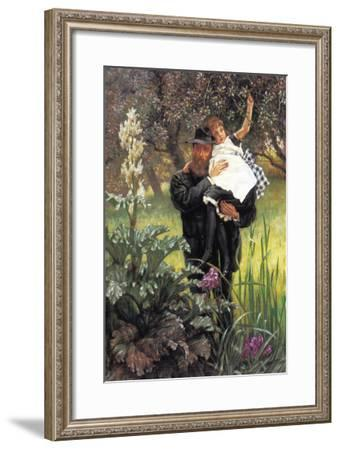 The Widower-James Tissot-Framed Art Print