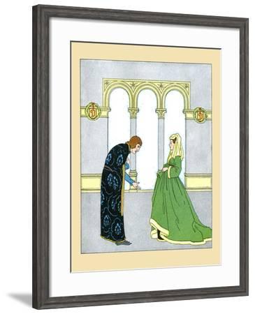 The Wife And Servant- Maud & Miska Petersham-Framed Art Print
